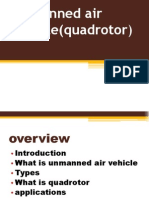 Unmanned Air Vehicle(Quadrotor)