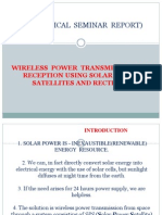 Wireless Power Transmission and Reception Using Solar Power Satellites and Rectenna
