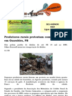 Produtores rurais protestam contra banco com gado morto na Paraíba