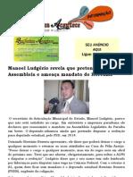 Manoel Ludgério revela que pretende retornar a Assembleia e ameaça mandato de Hervázio