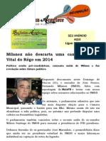 Milanez não descarta uma candidatura de Vital do Rêgo em 2014