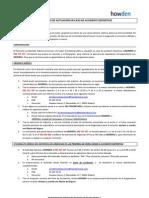PROTOCOLO DE ACTUACIÓN EN CASO DE ACCIDENTE 2013