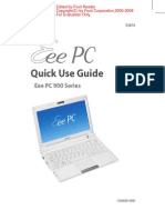 Eee PC Quick Use Guide - Eee PC900 Notebook Series