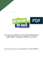 Prova Objetiva Fiscal Biomedico Crbm 4a 2010 Fadesp