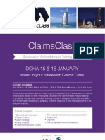 Constructions Claims Class ITC Qatar Brochure