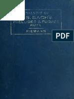 Riemann, Hugo - Analysis of J.S. Bach's Wohltemperierte Klavier (48 Preludes & Fugues) Vol. 1 (1893)