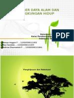 Sumber Daya Alam Dan Pelestarian Lingkungan Hidup
