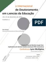 IV Seminario Doutoramento Em CE