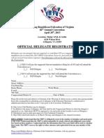 YRFV 2013 Delegate Form