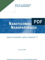 Ministère de l'Ecologie - Nanotechnologies, Nanoparticules