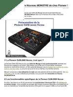 DJM2000 Nexus Le Nouveau MONSTRE de Chez Pioneer