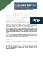 Protocolo de Accidente de Trabajo Prefabricados Huila Ltda.