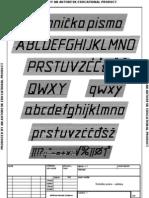 Tehnicko Pismo - Latinica Print