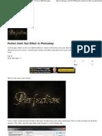 Perfect Gold Text Effect in Photoshop _ Webtiago - Creative Web Designer