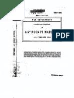 TM 9-395a 4-5 Inch Rocket Material