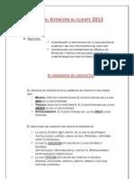 Capacitación ATENCION AL CLIENTE 2013