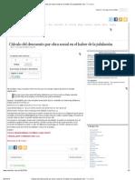 Cálculo del descuento por obra social en el haber de la jubilación _ M r