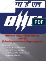 ppt on BHEL and its organisation structure