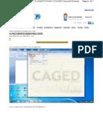 Passo Passo Importar Arquivo Para o Caged