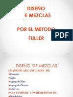 DISEÑO DE MEZCLAS- METODO FULLER