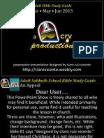 2013 2nd Quarter Lesson 1 Powerpoint Show
