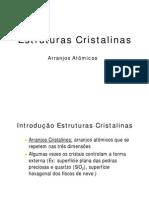 Estrutura Cristalina AULA 1