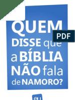 QUEM DISSE QUE A BÍBLIA NAO FALA DE NAMORO