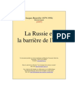Bainville Jacques - La Russie et la barrière de l'Est