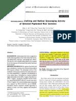 Anthocyanin Profiling and Radical Scavenging Activity