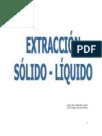 PNT- Extracción sólido líquido