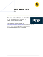 NissanD&AD Student Awards 2013 Tutor Pack