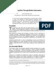 Mitigating Risk Through Better Information