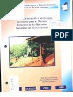 Analisis de Grupos Para Manejo de Recursos Naturales