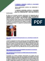 INTERPONEN NUEVA DENUNCIA CIUDADANA CONTRA CORRUPTO IVO MANRIQUE