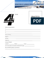 4th Debate Cup Application Form- ANC