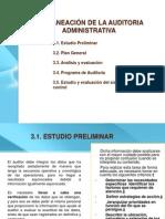 III. PLANEACIÓN DE AUDITORIA ADMINISTRATIVA