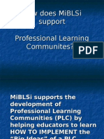MiBLSi Teams Are PLC's
