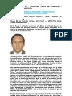 Fiscal de La Nacion Ordena Investigar a Fiscal Superior corrupto denunciado Javier Cerna Valdez