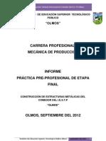 Informe Proyecto Decomedor Del Istp Olmos