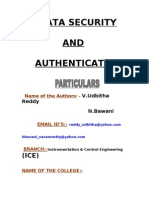 Data Security and Authentication