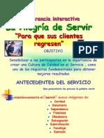 La elegría de servir