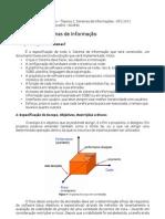 Resumo de Projetos de Sistemas de Informação