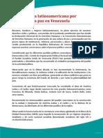 Carta Latinoamericana Por La Paz en Venezuela