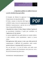 Licenziamento Del Dipendente Pubblico in Conflitto Di Interessi Con Atti e Decisioni Del Proprio Ufficio