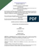ley electoral y de partidos políticos dto 1-85