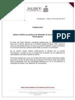 Comunicado 04 Abril Gobierno de Jalisco