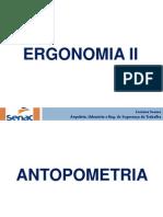 Apresentação de Ergonomia II [ANTOPOMETRIA]
