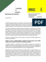 Carta abierta a los candidatos y las candidatas a la Presidencia de la República Bolivariana de Venezuela