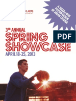 2013 Spring Showcase Program Booklet