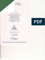 1988 Mahatma Gandhi Humanitarian Award Ceremony Handbill